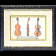 SALE Vintage Violins Print