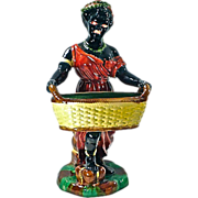 SALE Antique African Woman Figurine Cachepot
