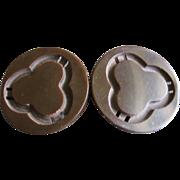 Deep Carved and Cut-out Vintage Bakelite Belt Buckle