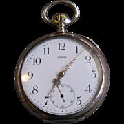 Vintage Omega 800 Silver Man's Pocket Watch