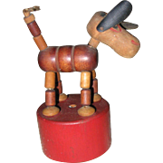 Vintage wooden Push up toy
