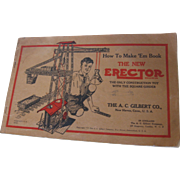 "1934 Gilbert Erector ""How To"" Book"