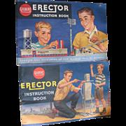 Gilbert Erector Instruction 2 books 1959