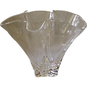 Steuben Hankerchief Crystal Vase, Mint Condition