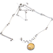 Mexican Silver Necklace with Tiger's Eye
