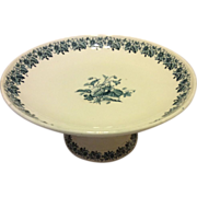 French footed plate by Luneville