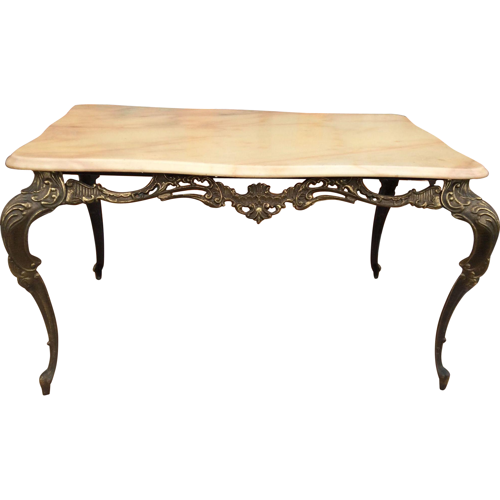 Marble Top Wire Coffee Table: Small Metal Coffee Table With Marble Top From