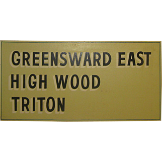 SALE Original '60s NEW SEABURY MASHPEE CAPE COD Neighborhood Development Painted Sign - Greenswood East - Triton - High Wood