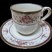 Vintage China Tea Cup & Saucer NORITAKE Japan Brently Copper Gold Floral.