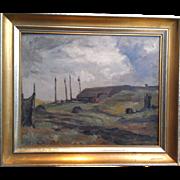 "Fishing Shack, 1937, Oil on Panel, 13 x 16"""