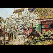 """Dogwood, 1932, Oil on Canvas, 21 1/2  x  30"""""""