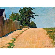 """Road Home, 1916, Oil on Canvas, 12 x 16"""""""