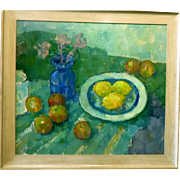 "Three Lemons, 1955, 23 x 26"" (image), Listed Artist"