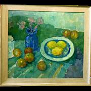 """Three Lemons, 1955, 23 x 26"""" (image), Listed Artist"""