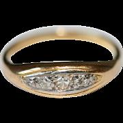 Vintage Art Deco 18 carat gold and diamond ring - circa 1935