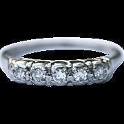 Lambert Brothers Vintage Platinum diamond half eternity ring