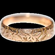 "Romantic Fine Antique Edwardian 9 carat rose gold ivy leaf ""clinging attachment"" wed"