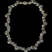 Sensational Antique French Art nouveau silver and paste necklace - circa 1910