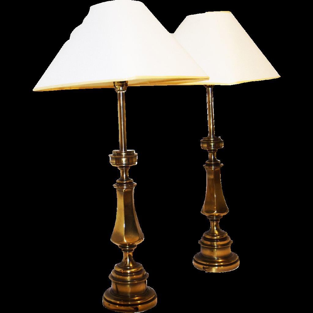 Stiffel brass vintage midcentury modern hollywood regency brass table