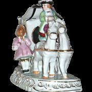 SOLD **SALE**Vintage Renaissance Style Coach Carriage with Lady & Gentleman Night Light La