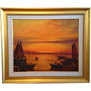 "Oil Painting by artist Nunzio Vayana (1878 - 1960), ""Lost Colony"" artist, depicting"