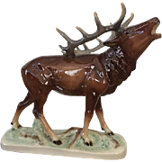 "Magnificent Vintage Porcelain ""Bugling Elk"" in Excellent Condition!"