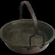 Antique Copper Sauce Pan Unusual  Iron Handle Pour Spout