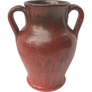 North Carolina Pottery Vase Red Chrome Glaze Some As Is