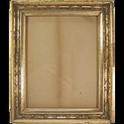 SOLD Lemon Gold Gilt Frame Liner Stenciled C.1860
