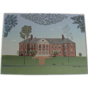 Anne Bell Robb Original Miniature Painting House Signed & Dated 1996