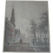 Large New York City Street Scene c.1900 by E.L. Henry, Saint Johns Chapel ...