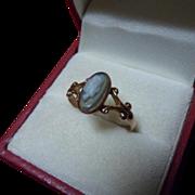 Sweet Antique Edwardian 9ct Rose Gold Cameo Ring