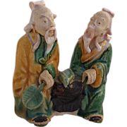 SOLD Antique Chinese Double Mud-Men
