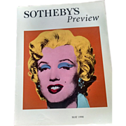 "SOLD Marilyn Monroe, Sotheby's Preview ""Orange Marilyn"", Andy Warhol"