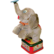Vintage Tin Toy Elephant Battery Operated Made Japan 1950s