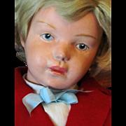 "REDUCED 19"" Fantastic Schoenhut Wooden Character Boy, Model 407"