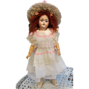 """White Batist Dress with Matching Petticoat Hat, fits 22-23"""" French Bebe or German Doll"""