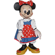 SALE Disney Minnie Mouse doll wood carving by Anri