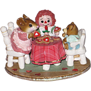 Wee Forest Folk M-177 Tea For Three Valentine's Version of mouse tea party