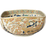 SALE Satsuma, Gosu, Japanese pottery bowl, 1890 to 1900, made by Kosai.