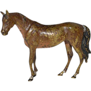 SALE Viennese cold painted bronze horse.