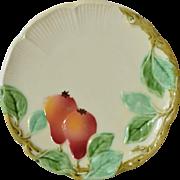 SALE Majolica,art nouveau plates (5), late 19th century.