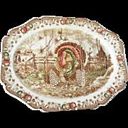 SALE Turkey platter, ' His Majesty,' Johnson Bros., England, mid 20th century.