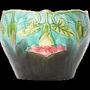 SALE Jardiniere/Cache Pot, Orchies, Majolica, French, 1920.