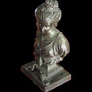 SOLD Art Nouveau Bronze Finish Bust of a Goddess