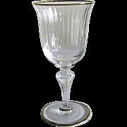 Six Venetian Glass – Water Glasses – Gilded Rims
