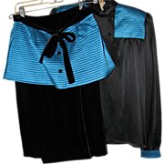 REDUCED Vintage Valentino Skirt & Blouse Set - Size 10