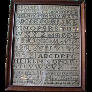 1805 American Sampler by Ann Perkins Age 12
