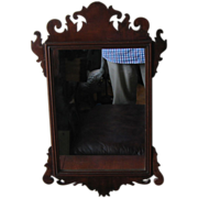 18th Century Mahogany Antique Chippendale Mirror
