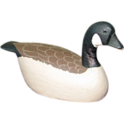 Miniature Carved Wooden Canada Goose